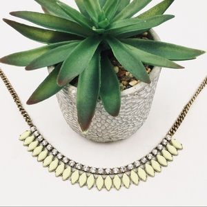 J. Crew yellow and crystal statement necklace